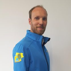 Raimund Heidrich in his civil protection outfit