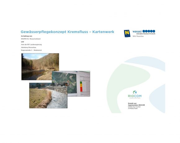 Water Body Maintenance Concept Kremsfluss – Pilot Project